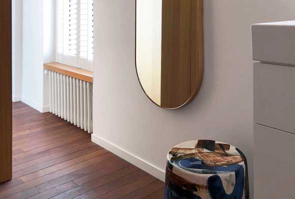 Bower Capsule Mirror - Reinaldo Sanguino Ceramic Stool