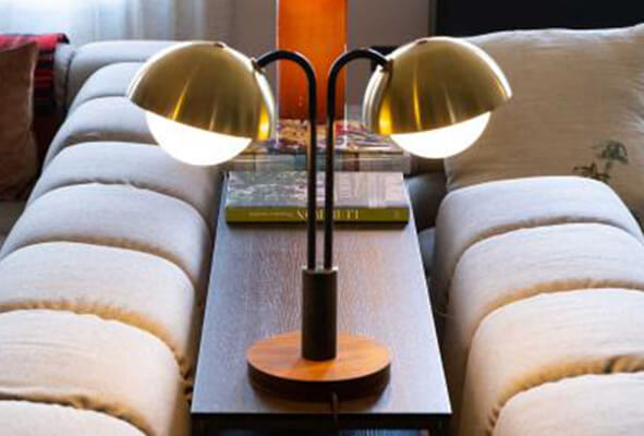 DOUBLE DOME TABLE LAMP / ALLIED MAKER